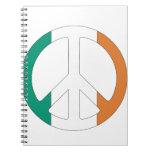 Símbolo de paz irlandés de la bandera libro de apuntes