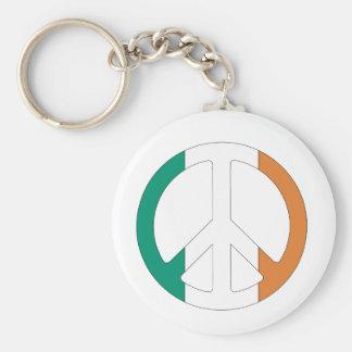 Símbolo de paz irlandés de la bandera llavero personalizado