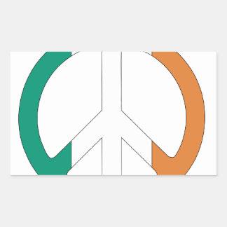 Símbolo de paz irlandés de la bandera rectangular altavoces