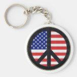 Símbolo de paz llaveros personalizados