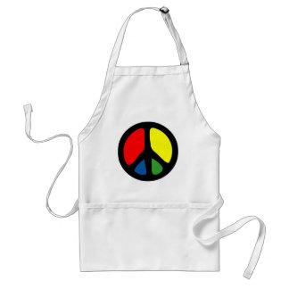 Símbolo de paz maravilloso del hippy delantal