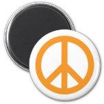 Símbolo de paz - naranja iman