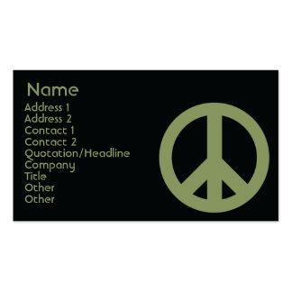 Símbolo de paz - negocio tarjetas de visita
