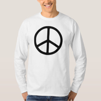 Símbolo de paz negro fino remera