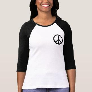 Símbolo de paz negro playeras