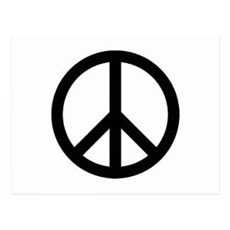 Símbolo de paz negro tarjetas postales