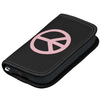 Símbolo de paz negro y rosado organizador