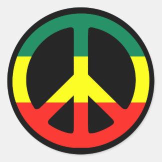 ¡Símbolo de paz para el mundo! Pegatina Redonda