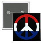 Símbolo de paz patriótico pin