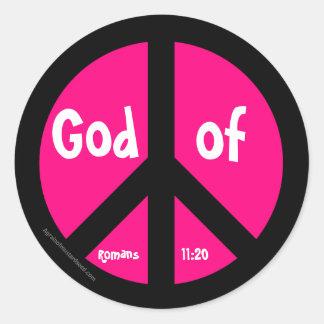 Símbolo de paz pegatina redonda