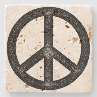 Símbolo de paz posavasos de piedra