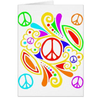 Símbolo de paz psicodélico tarjeta de felicitación
