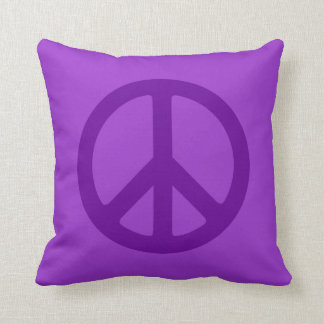 Símbolo de paz púrpura cojín