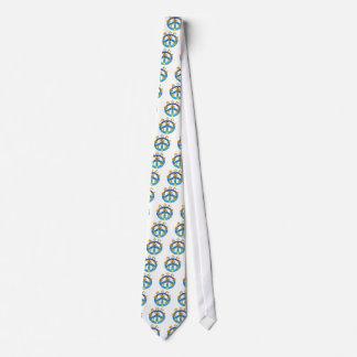 Símbolo de paz que une todas las religiones del corbatas personalizadas