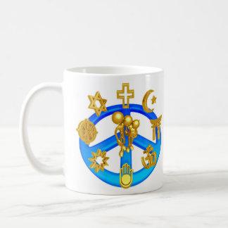Símbolo de paz que une todas las religiones del taza