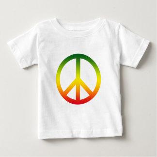 Símbolo de paz Rasta Playera De Bebé