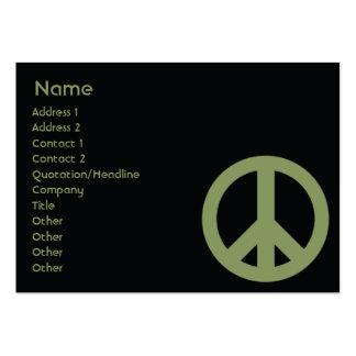 Símbolo de paz - rechoncho tarjetas de visita grandes