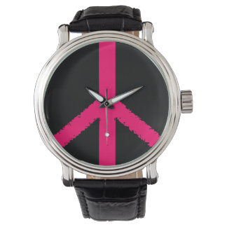 símbolo de paz reloj de mano