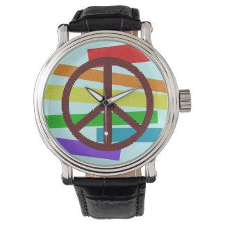símbolo de paz relojes de mano