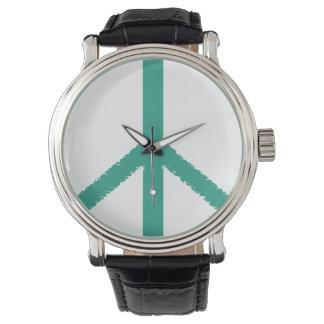 símbolo de paz relojes de pulsera