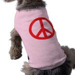 Símbolo de paz - rojo camisas de mascota