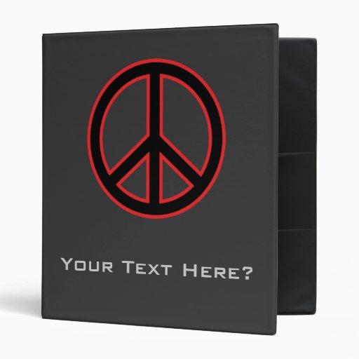 """Símbolo de paz rojo y negro carpeta 1"""""""