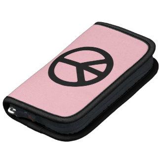 Símbolo de paz rosado y negro planificador