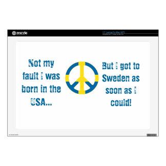 Símbolo de paz sueco de la bandera skins para 43,2cm portátiles
