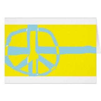 Símbolo de paz sueco de la bandera tarjeta de felicitación