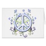 Símbolo de paz tarjetón