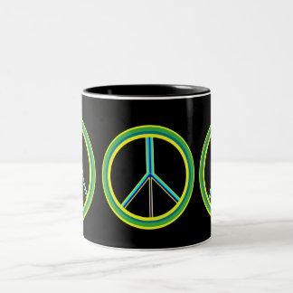 Símbolo de paz taza de café