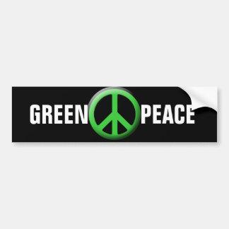 Símbolo de paz verde pegatina para auto