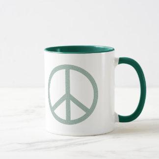 Símbolo de paz verde taza