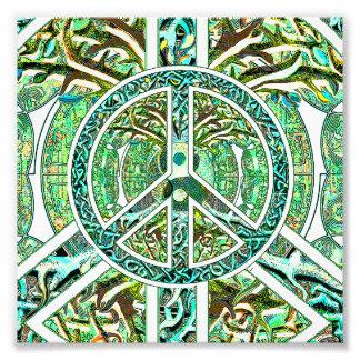 Símbolo de paz, Yin Yang, árbol de la vida en Fotografía