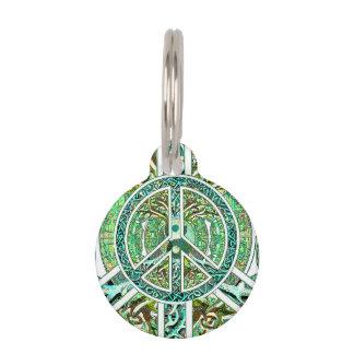 Símbolo de paz, Yin Yang, árbol de la vida en Identificador Para Mascota