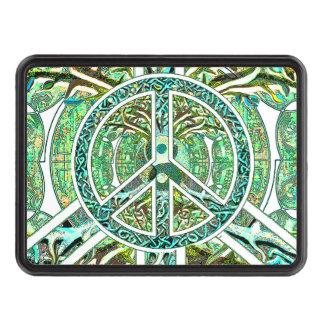 Símbolo de paz, Yin Yang, árbol de la vida en Tapas De Remolque