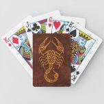 Símbolo de piedra del escorpión de Intrictate Baraja Cartas De Poker