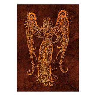 Símbolo de piedra del virgo de Intrictate Tarjetas Personales