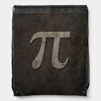 Símbolo de piedra envejecido de la matemáticas del mochila