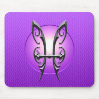 Símbolo de Piscis del hierro, púrpura Alfombrilla De Raton