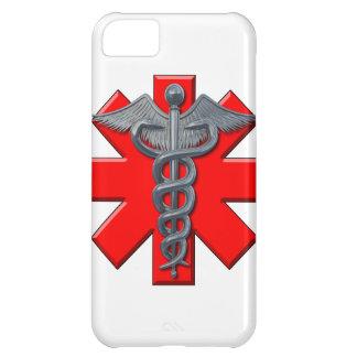 Símbolo de plata de la profesión médica funda para iPhone 5C