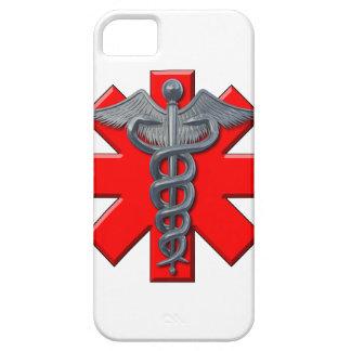 Símbolo de plata de la profesión médica iPhone 5 funda