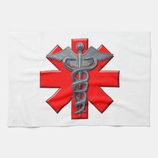 Símbolo de plata de la profesión médica toallas