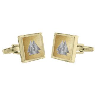 Símbolo de plata de Valknut de los nórdises - Gemelos Dorados