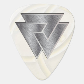 Símbolo de plata de Valknut de los nórdises - Plectro