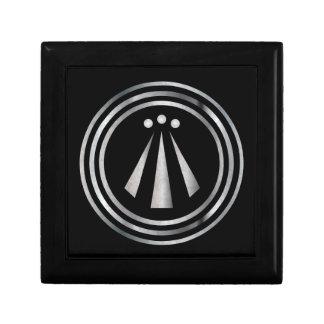 Símbolo de plata del Neo-Druida de Awen 2 - caja Joyero Cuadrado Pequeño