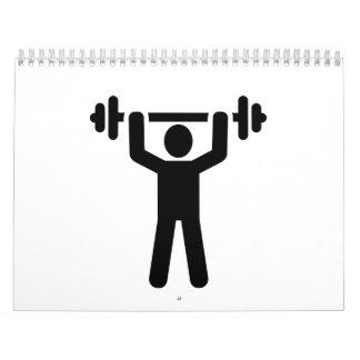 Símbolo de Powerlifting del levantamiento de pesas Calendario