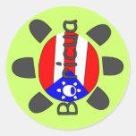 Símbolo de Puerto Rico Boricua Pegatina Redonda