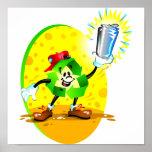 Símbolo de reciclaje animado con la poder de alumi poster