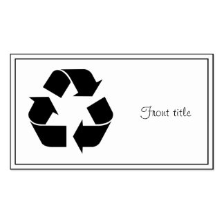 Símbolo de reciclaje negro tarjetas de visita